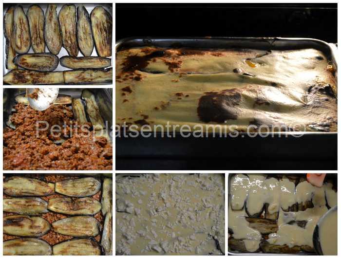 montage et cuisson de la moussaka