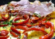 Omelette au Jambon de Bayonne et poivrons