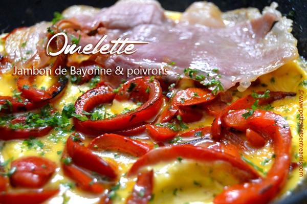 omelette-au-jambon-de-Bayonne-et-poivrons