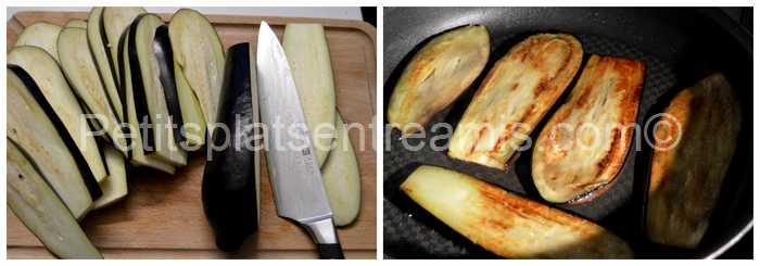 préparation et cuisson aubergines pour moussaka