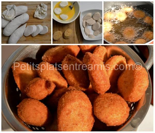 préparation et cuisson croquettes de boudin blanc