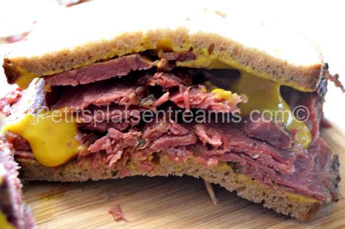 recette sandwich à la viande fumée