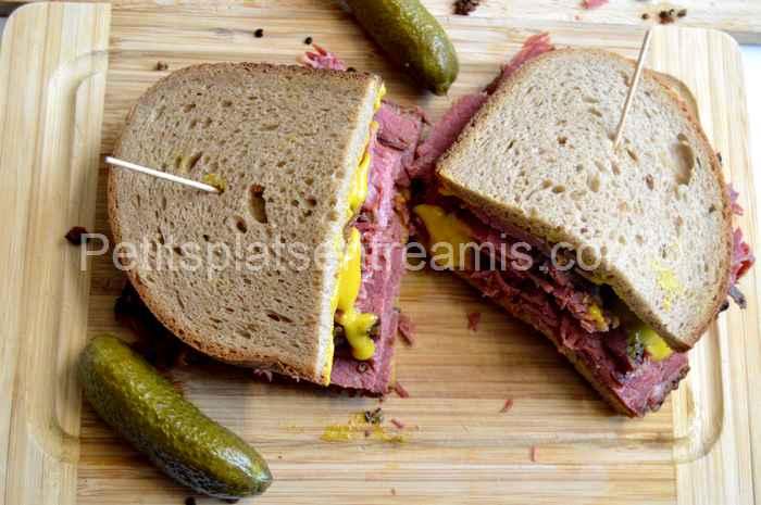 sandwich à la viande fumée recette