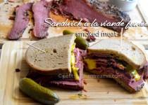 Sandwich à la viande fumée – smoked meat
