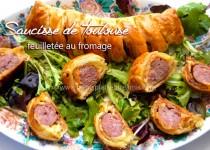 Saucisse de Toulouse feuilletée au fromage
