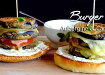 Burger aubergine et cantal