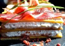 Mille-feuille au jambon Noir de Bigorre