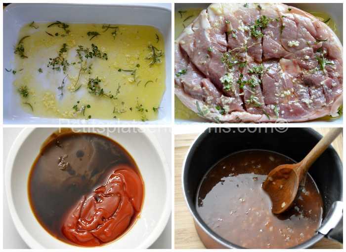 Préparation sauce et marinade pour rouelle grillée