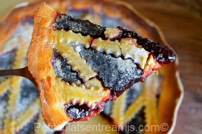 Recette de la tarte à la confiture de mûres