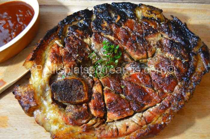Rouelle-de-porc-grillée recette