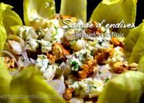 Salade d'endives au roquefort et noix