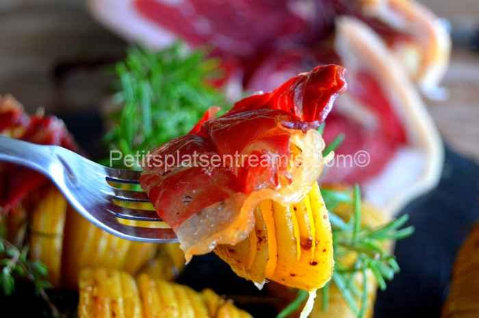 bouchée de pommes de terre suédoises au jambon Noir de Bigorre
