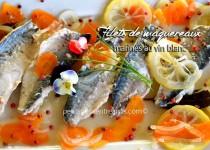 Filet de maquereaux marinés au vin blanc