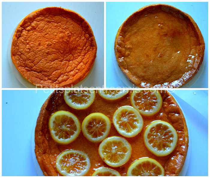 finition gâteau magique au citron