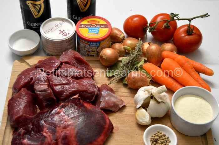 ingrédients pour daube de boeuf irlandaise