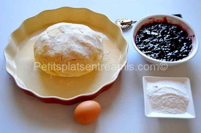 ingrédients pour tarte à la confiture de mûres