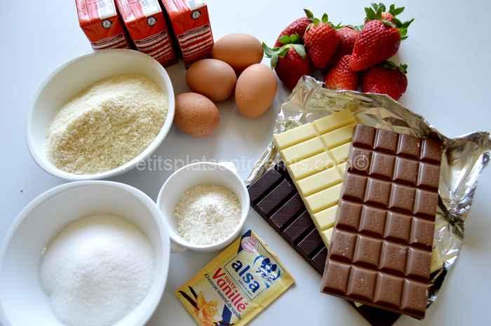 ingrédients pour terrine aux chocolats et caramel