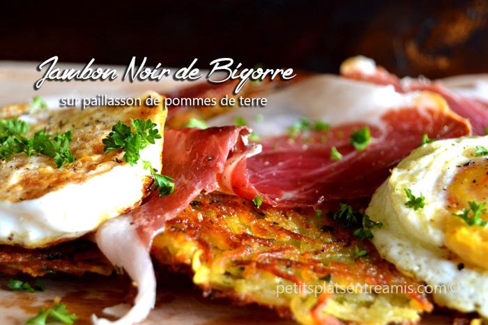 jambon-Noir-de-Bigorre-sur-paillasson-de-pommes-de-terre-