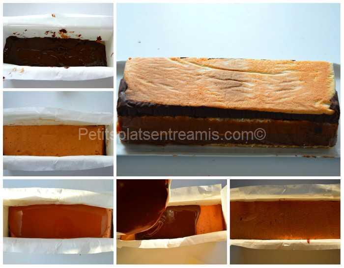 montage terrine aux chocolats