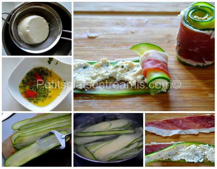 préparation roulés fraicheur au jambon noir de Bigorre