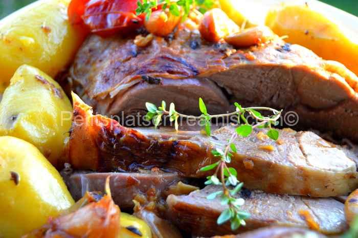recette gigot d'agneau confit à l'ail