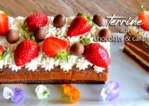 Terrine aux chocolats et caramel