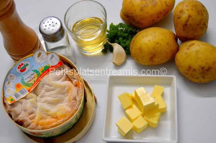 Ingrédients pour Mont d'Or gratiné au four