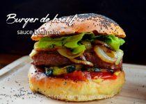 Burger de bœuf sauce béarnaise