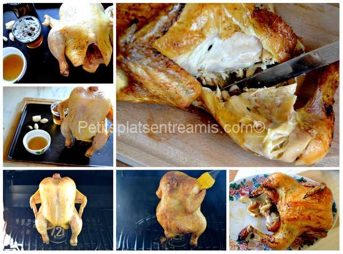 cuisson poulet à la bière au barbecue