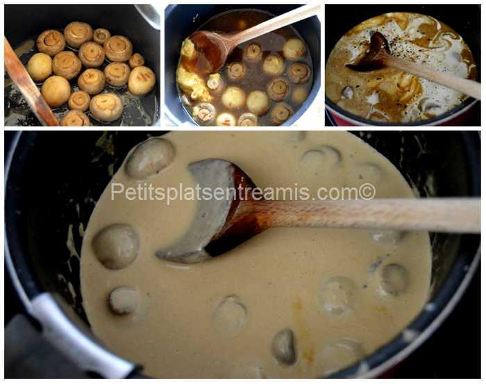cuisson sauce armagnac et champignons