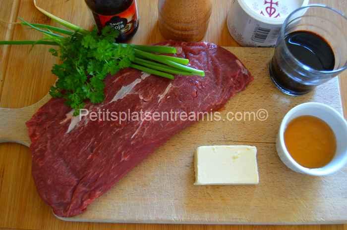 ingrédients flat iron steak laqué