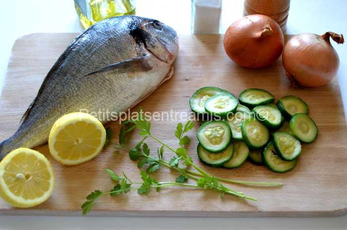 ingrédients pour dorade à la plancha
