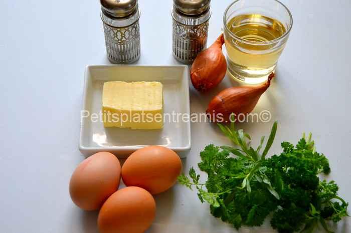 ingrédients sauce béarnaise