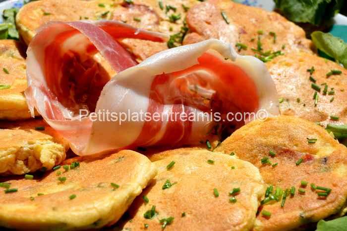 recette pancakes au jambon de Bayonne
