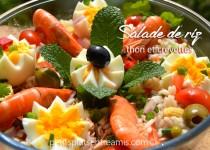 Salade de riz au thon et crevettes