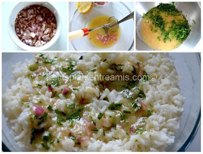 sauce vinaigrette pour salade de riz