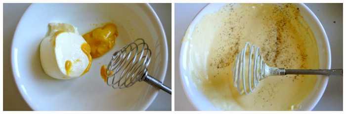 vinaigrette au yaourt et moutarde