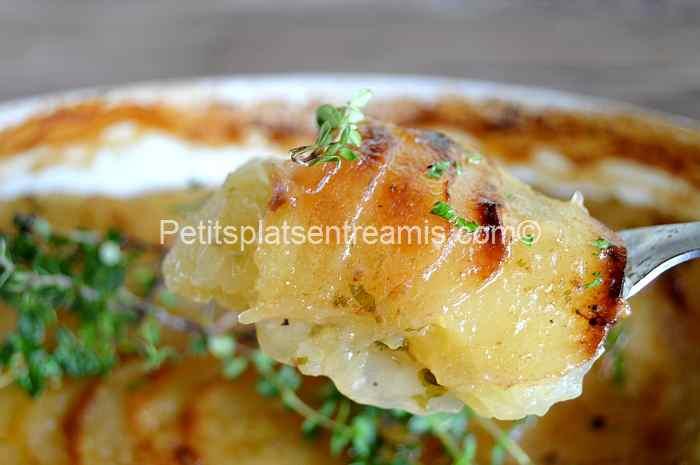 bouchée de pommes-de-terre-à-la-boulangère