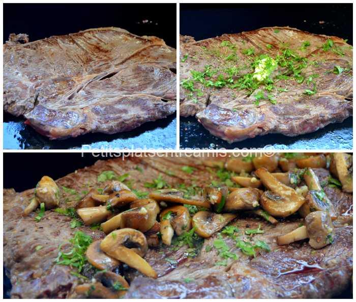 cuisson basse côte de boeuf à la plancha