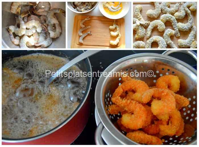 cuisson crevettes panées au panko