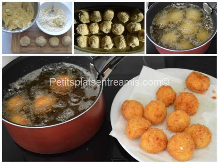 cuisson croquette de pommes de terre et mozzarella