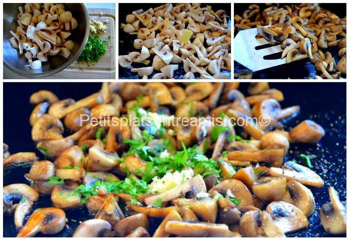 cuisson des champignons à la plancha