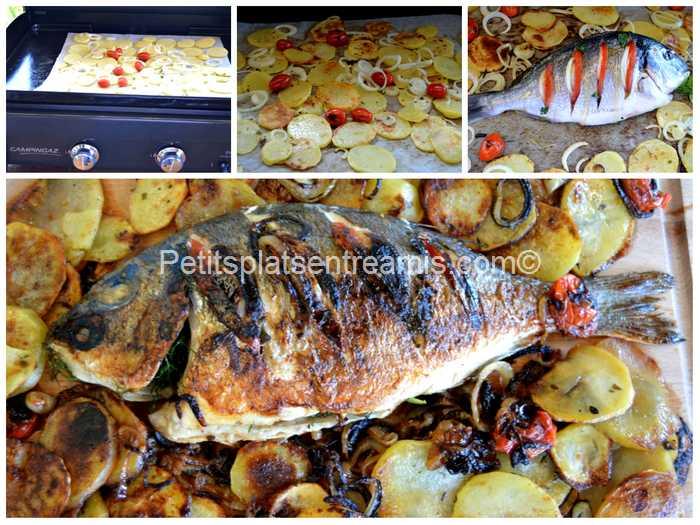 cuisson dorade aux oignons à la plancha