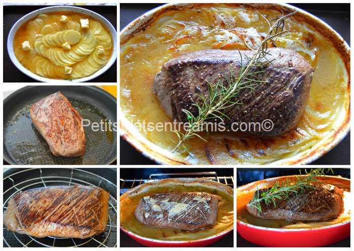 cuisson filet de rumsteak boulangère