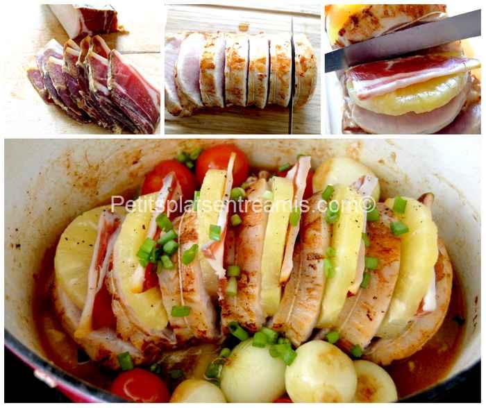 cuisson rôti de porc à l'ananas