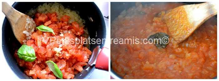 cuisson sauce tomate au basilic