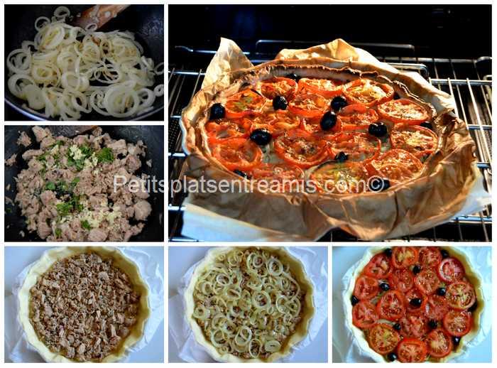 cuisson tarte thon tomates