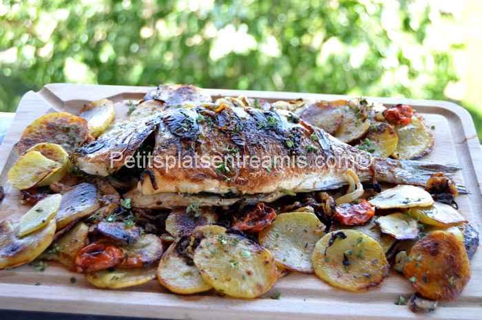 Dorade aux oignons grill e la plancha petits plats - Repas plancha entre amis ...