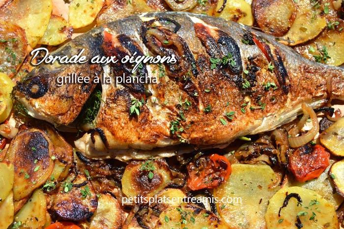 dorade-aux-oignons-grillée-à-la-plancha