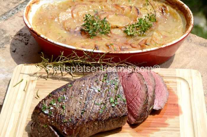 filet-de-rumsteak-boulangère recette